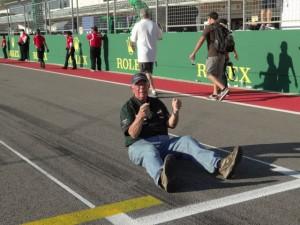 Intrepid writer. Paul Gohde, starts race from Felipe Massa's spot.  [Paul Gohde Photo]