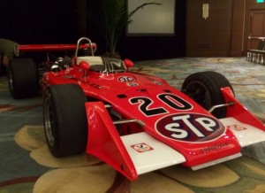 The 1973 Indianapolis 500 winning Eagle-Offy now owned by Bruce McCaw.  [Steve Zautke photo]