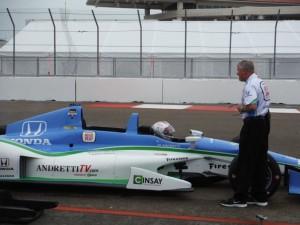 Mario Andretti behind the wheel.  [Eddie LePine photo]