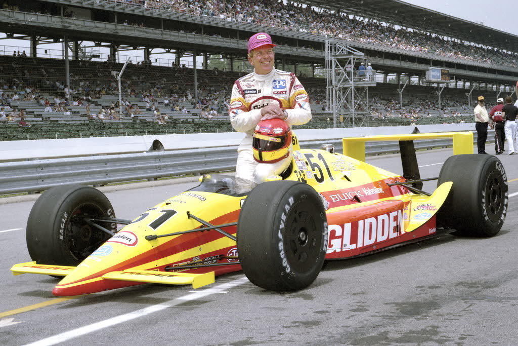 Gary Bettenhausen at Indianapolis in 1991 where he was the fastest qualifier, however started 13th due to qualifying rules. [Russ Lake Photo]