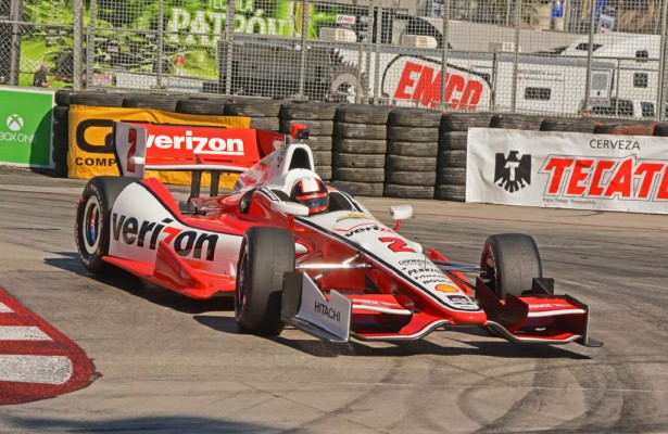 Juan Pablo Montoya in action at Long Beach.  [Joe Jennings Photo]