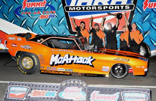 Mike McIntire Jr. won his first-ever IHRA Ironman Saturday in Bradenton