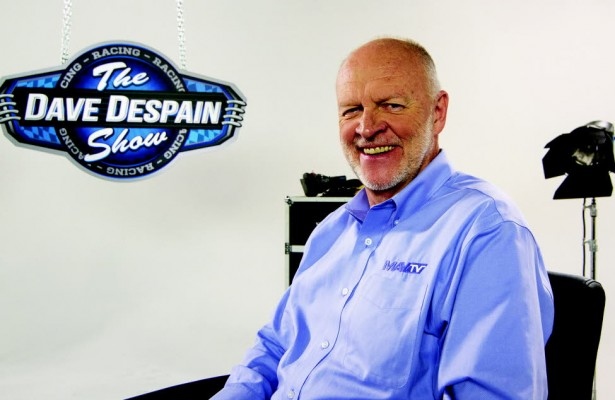Dave Despain on the set of his new show on MAVTV.