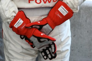 The hands of a champion - Dindo Capello waiting his turn behind the wheel of the Audi.  [Photo by Jack Webster]