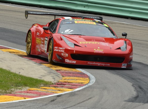 Anthony Lazzaro in his Ferrari 458 GT3 Italia  [John Wiedemann Photo]