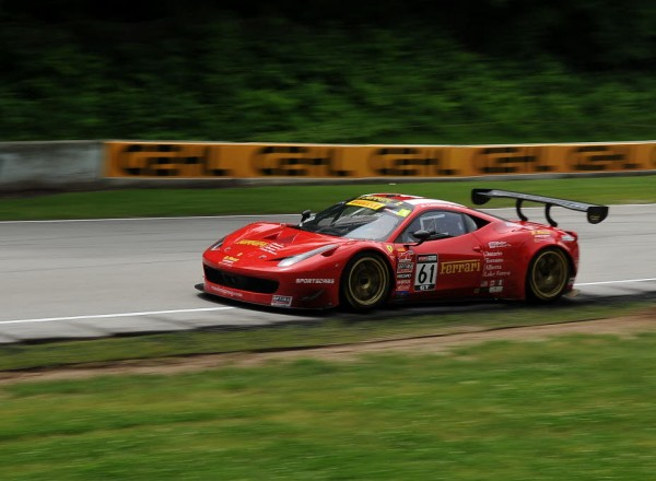 Anthony Lazzaro in the R.Ferri Motorsports Ferrari 458 GT3 Italia.  [John Wiedemann Photo]