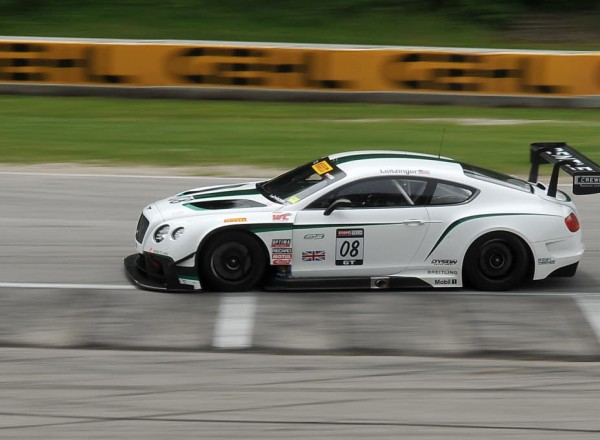 Butch Leitzinger prepares the Bentley Continental GT for it's first race in the Pirelli World Challenge Series. [John Wiedemann Photo]