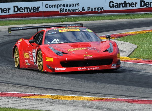 Nick Mancuso in the Ferrari 458 GT.  [John Wiedemann Photo]