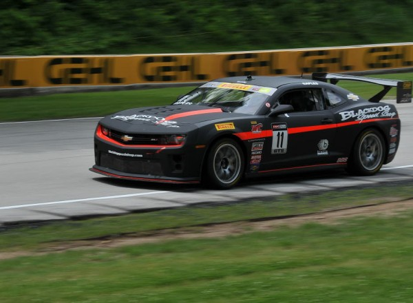 Black Dog Speed Shop driver Tony Gaples in his Chevrolet Camaro.  [John Wiedemann Photo]