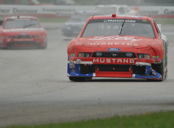 Ryan Reed shows some left front damage.  [John Wiedemann Photo]