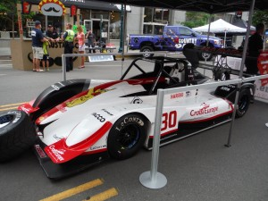 Romain Dumas Honda powered car at fan fest in downtown Colorado. Dumas qualified first in the Unlimited Divsion.  [Eddie LePine Photo]
