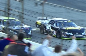 Kyle Busch beats John Hunter Nemechek to the line at Lucas Oil Raceway Indianapolis.  [Dan Margetta Video]