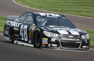 Jimmie Johnson ran the quickest in final practice for the Brickyard 400.  [mark Walczak Photo]