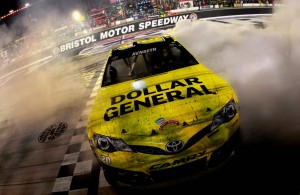 Matt Kenseth celebrated the win in the Bristol night race last year, will he do it again in 2014?  [Sean Gardner/Getty Images]