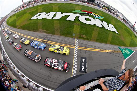 The 2015 NASCAR season will kick off as is custom, in Daytona in February.  [credit Jonathan Ferrey/NASCAR via Getty Images]