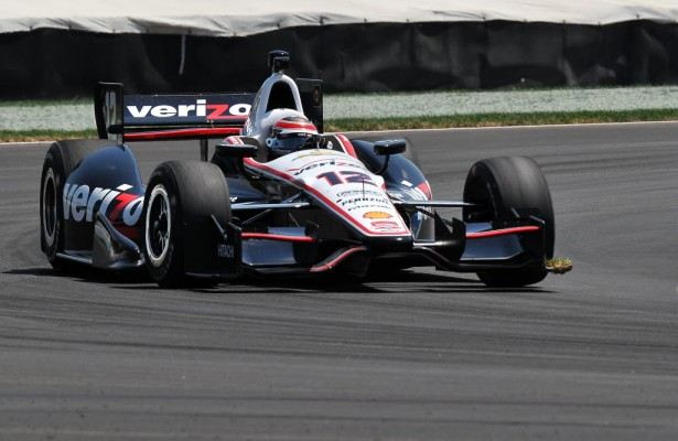 Will Power in the Verizon Team Penske IndyCar.  [John Wiedemann Photo]