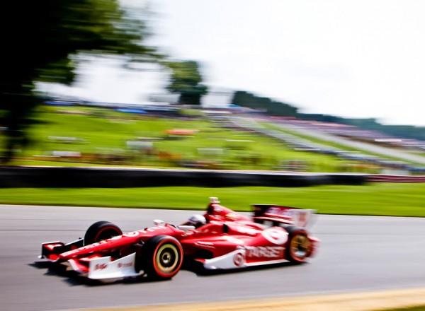 Scott Dixon at speed.  [Andy Clary Photo]
