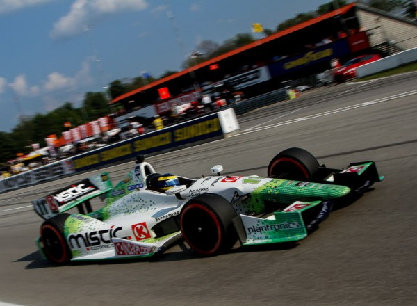 Sebastien Bourdais finished second, his best ever result at Mid Ohio.  [Andy Clary Photo]
