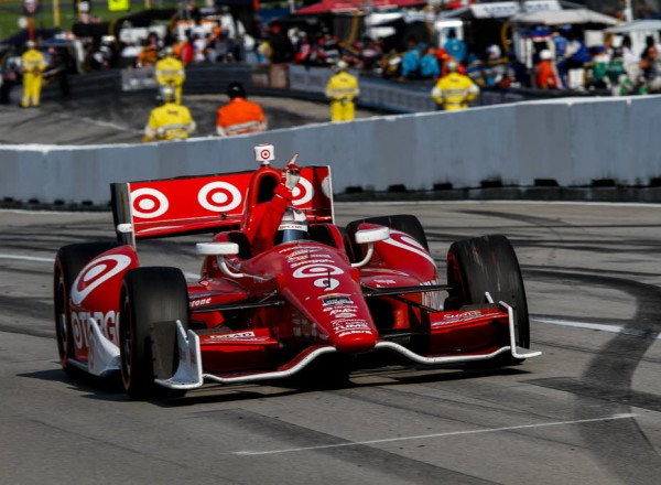 Scott Dixon celebrates victory for the fifth time at Mid Ohio.  [Andy Clary Photo]