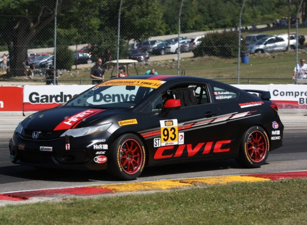 Chad Gilsinger/Michael Valiante were second quick in their Honda Civic.  [Mark Walczak Photo]
