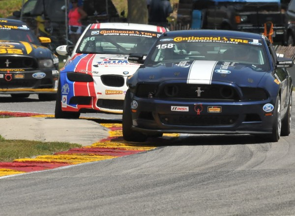 Ian James led early in the Mustang Boss 302R.  [John Wiedemann Photo]