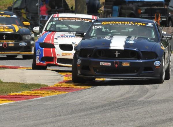 Ian James led early in the Mustang Boss 302R.  [John Wiedemann Photo]