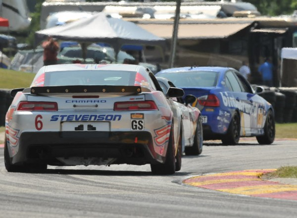 Andrew Davis chases his competitors through turn seven at Road America.  [John Wiedemann Photo]