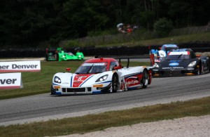 Christian Fittipaldi leads Jordan Taylor and Memo Rojas through turn 10 at Road America.  [Mark Walczak Photo]