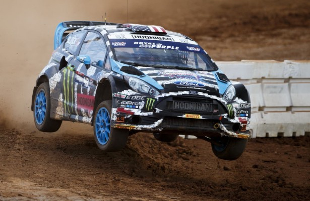 Ken Block dominated in Charlotte and looks to bring that success to Daytona.  [photo courtesy GRC/REd Bull Motorsports]