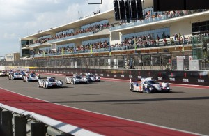 The start of the FIA-WEC race in Austin.  [Photo by Jack Webster]