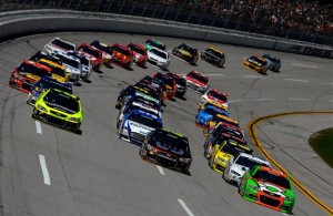 The normal intensity at Talladega is cranked up with four drivers eliminated from the Chase following the race on Sunday.  [Credit: NASCAR Via Getty Images]