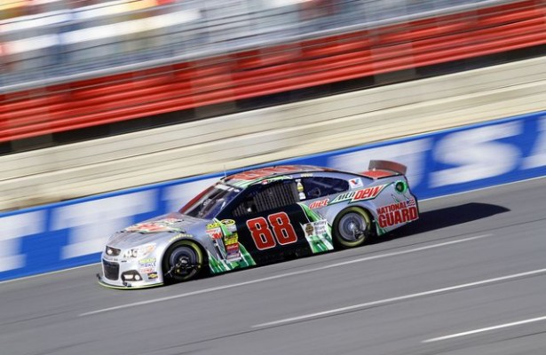 Dale Earnhardt Jr. was one of four drivers taking part in this week's Goodyear tire test at Charlotte Motor Speedway. (CMS/Jonathan Coleman photo)