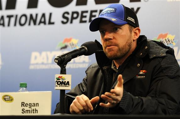 Regan Smith will again pilot the #41 Haas Automation Chevrolet for Stewart-Haas Racing as the NASCAR Sprint Cup Series heads to the Atlanta Motor Speedway.  [Credit: Jared C. Tilton/Getty Images]