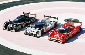 Porsche 919 Hybrid in 2015 Le Mans colors.  [photo courtesy Porsche]