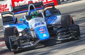 Conor Daly navigates the hairpin turn during qualifications for the Toyota Grand Prix of Long Beach. [Photo by: Richard Dowd]