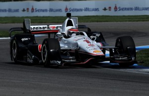 Will Power on the road course at the Indianapolis Motor Speedway. [John Wiedemann Photo]