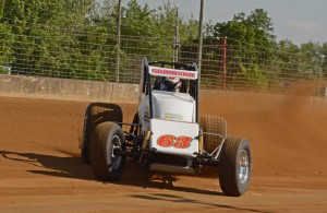 Fast qualifier and race winner Kody Swanson in turn one. [Joe Jennings Photo]