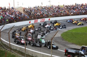 """""""Little 500"""" pace lap. [Photo by Randy Harbaugh]"""