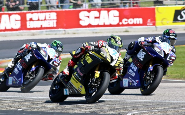 Supersport 600 action at Road America.