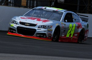 Jeff Gordon during qualifying for his final Brickyard 400 race. [John Wiedemann Photo]