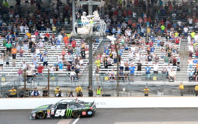 Kyle Busch wins the Lilly Diabetes 250 at Indianapolis.  [Russ Lake Photo]