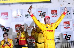 Ryan Hunter-Reay wins for the third time at Iowa Speedway. [Pete Klinger Photo]
