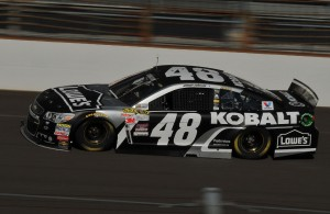 Jimmie Johnson is looking for Brickyard 400 win number five. [John Wiedemann Photo]