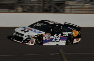Tony Stewart during practice at the Indianapolis Motor Speedway. [John Wiedemann Photo]