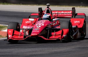 Scott Dixon picked up where he left off last year - fast at Mid-Ohio. [Andy Clary Photo]
