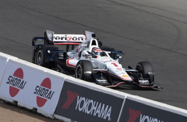 Will Power scurries through Turn 1. [Joe Jennings Photo]