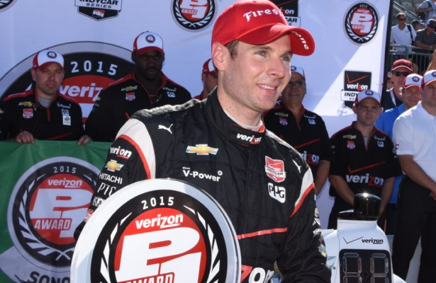 Will Power all smiles as he zipped to his fourth Sonoma pole and the 42nd of his career. [Joe Jennings Photo]