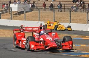 Scott Dixon blazes through Turn 9 at Sonoma Raceway. [Joe Jennings Photo]