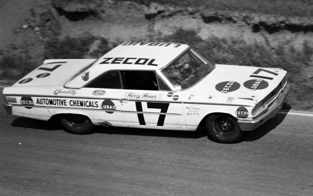 Harry Heuer also drove a 1963 Ford for the Milwaukee-based Zecol-Lubaid team. Dr. Dick Thompson also drove the #17 in the race. [Photo by Russ Lake]