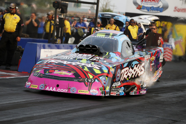 Courtney Force in her Traxxas Chevrolet Camaro. [photo courtesy NHRA]